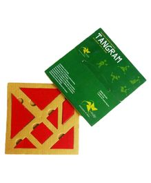 Vikalp Eco-Friendly Tangram Puzzle Red - 7 Pieces