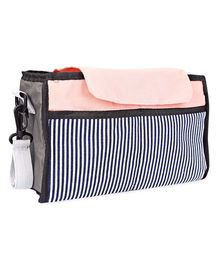 Babies Bloom Stroller Organiser Bag - Peach Black