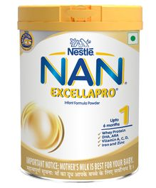Nestle NAN EXCELLAPRO 1 Infant Formula Powder Upto 6 months Stage 1 - 400 gm Tin Pack