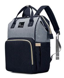R for Rabbit Caramello Backpack Style Diaper Bag - Navy Blue Grey