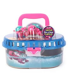 Little Live Pets Turtle Tank With Two Turtles - Blue & Pink