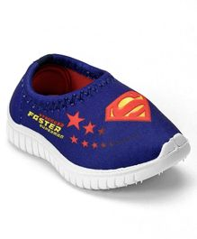 Superman Casual Slip On Shoes - Royal Blue