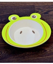 Quirky Monkey Frog Shape Melamine Feeding Bowl - Green