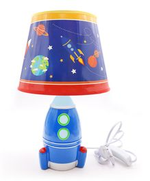 Quirky Monkey Space Lamp - Blue & Red