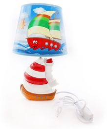 Quirky Monkey Nautical Lamp - Red White