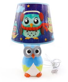 Quirky Monkey Nautical Owl Lamp - Blue