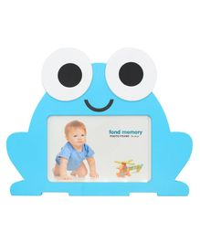 Quirky Monkey Frog Shaped Photo Frame - Blue