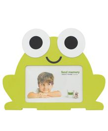Quirky Monkey Frog Shaped Photo Frame - Green