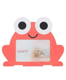 Quirky Monkey Frog Shaped Photo Frame - Peach