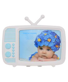 Quirky Monkey Television Shaped Photo Frame - Blue