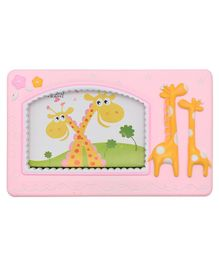 Quirky Monkey Photo Frame Giraffe Theme - Pink