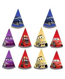 Party Propz Disney Pixar Cars Themed Hats Set of 10 - Multicolour