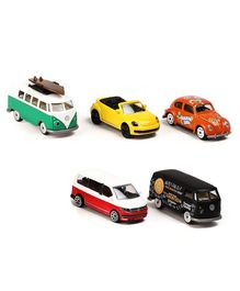 Majorette VW The Originals Toy Car Multi Color - 5 Pieces Gift Pack