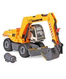 Dickie Construction Excavator Toy - Yellow & Black
