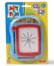 Art & Fun Drawing Board With Pen - Red & Blue