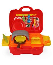 Art & Fun Pizza Oven & Dough Set In Case - Red