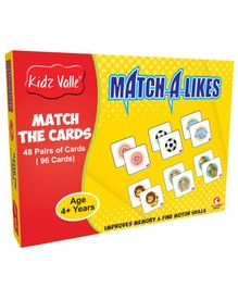 Kidz Valle Match-a-Like Match the Cards 48 Pairs (96 Cards)