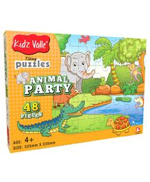 Kidz Valle Animal Party Jigsaw Puzzle Multicolor - 48 Pieces