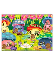 Kidz Valle Mushroom Houses Jigsaw Puzzle Multicolor - 48 Pieces