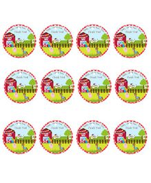 Party Propz Farm House Themed Thank You Tags Multicolour - 12 Pieces