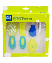 Mee Mee Premium Grooming Care Set Blue Green - Pack of 5