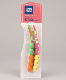 Mee Mee Baby's First Toothbrush Green Pink - Pack of 2