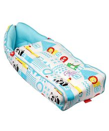 Fisher Price 3 in 1 Baby Carry Nest Panda Print - Blue