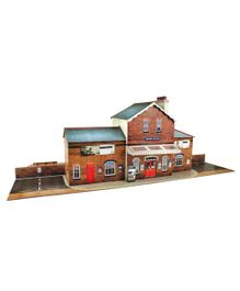The CityBuilder Railway Station Model Making Kit - Multicolor