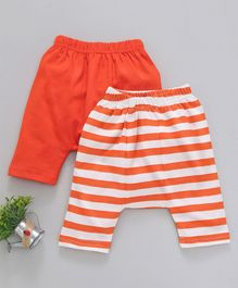 Earth Conscious Half Length Striped Pack Of Two Diaper Pants - Orange