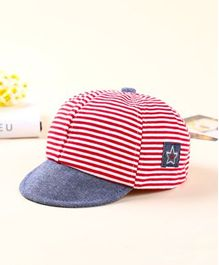 Ziory Striped Baby Summer Cap - Red