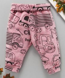 marshmallows Full Length Lounge Pant Vehicle Print - Pink