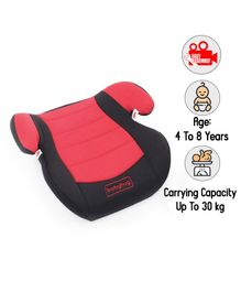 Babyhug High Raise Car Booster Seat - Red & Black