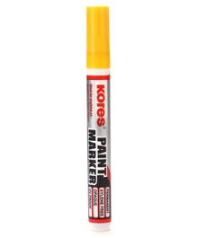 Kores Paint Marker Pen Yellow - Length 14.5 cm