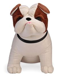 Funzoo Puppy Soft Toy Brown Off White - Height 31 cm