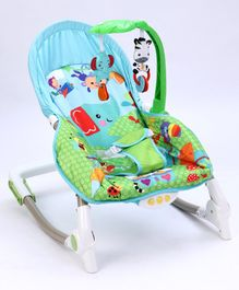 Baby Rocker With Toy Bar - Multicolour
