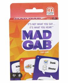 Mattel Mad Gab Card Game - 50 Cards