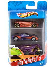 Hotwheels Maneuver Car 3 In 1 Pack (Style May Vary)