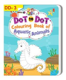 Dot To Dot Aquatic Animal Colouring Book - English