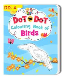 Dot To Dot Colouring Book of Birds - English