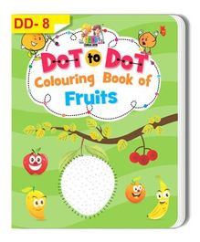 Dot To Dot Colouring Book of Fruits - English
