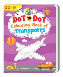 Dot To Dot Colouring Book of Transports - English