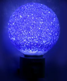 Skylofts LED Plug In Crystal Ball Night Lamp - Blue