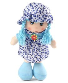 Karma Floral Dress Candy Doll Blue - Height 35 cm