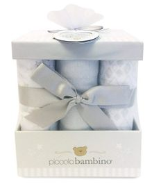 Piccolo Bambino Cotton Flannel Receiving Blankets Pack of 6 - Grey
