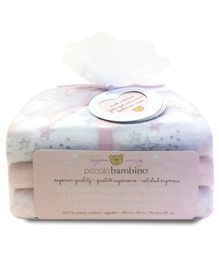 Piccolo Bambino Cotton Flannel Receiving Blankets Pack of 3 - Pink