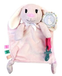 Honey Bunny Cuddly Pal Teether and Pacifier Holder - Pink