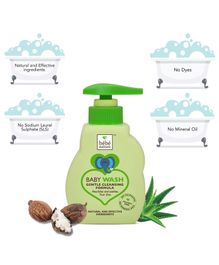 Bebe Nature Natural Baby Wash Gentle Cleansing Formula (Tear Free) - 260 ml