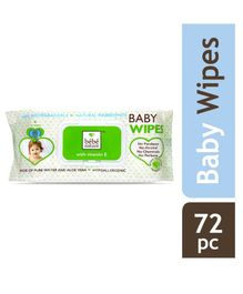 Bebe Nature Natural Biodegredable Wet Baby Wipes With Pure Water Aloe Vera & Vitamin E - 72 Pieces