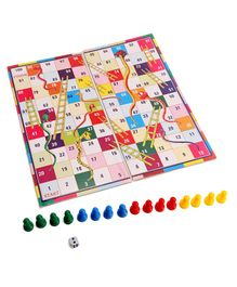 Toyenjoy 2 In 1 Ludo Snakes & Ladders Game - Multicolour
