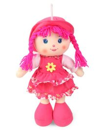 Karma Candy Doll With Frock & Hat Fuchsia - Height 35.5 cm